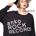 「ankoROCK RECORDS」ロゴカットソー -メガビッグ-