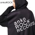 「ankoROCK RECORDS」バック&フロントロゴジップアップパーカー -スーパービッグ-