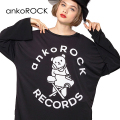「ankoROCK RECORDS」アイロンDJベアカットソー -メガビッグ-
