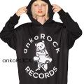 「ankoROCK RECORDS」アイロンDJベアプルオーバーパーカー -スーパービッグ-