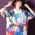 ankoROCK完全体ゾンビシャツ襟Tシャツ -メガビッグ-
