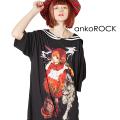 ankoROCK喫煙赤ずきんラインセーラーTシャツ -メガビッグ