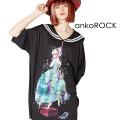 ankoROCK首つりシンデレララインセーラーTシャツ -メガビッグ-