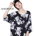 ankoROCKゴーストテディベアTシャツ -メガビッグ-