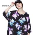 ankoROCKダーティーキャッツTシャツ -メガビッグ-