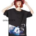 ankoROCKスモーキングパンダTシャツ -メガビッグ-