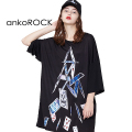 ankoROCKトランプタワーTシャツ -メガビッグ-