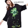 ankoROCK退廃四葉のクローバーTシャツ -メガビッグ-