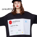 ankoROCKつぶやきI WANT TO DIE...Tシャツ -メガビッグ-