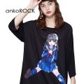 ankoROCK隠れファ○クガールTシャツ -メガビッグ-