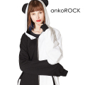 ankoROCK PANDAパンダ耳パーカー -スーパービッグ-
