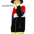 ankoROCKクレイジーベロアボリュームネックジャージ -スーパービッグ-