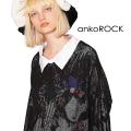 ankoROCKメッシュシャツ襟カットソー -メガビッグ-
