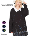 ankoROCKバラバラankoROCKシャツ襟カットソー -メガビッグ-