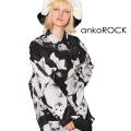 ankoROCKモノクロアニマルネコシャツ -スーパービッグ-