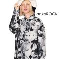 ankoROCKモノクロアニマルテディベアシャツ -スーパービッグ-