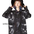 ankoROCKモノクローム黒猫シャツ -スーパービッグ-