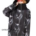 ankoROCKモノクローム黒猫ボリュームネックジャージ -スーパービッグ-