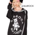 ankoROCK「ankoROCK RECORDS」アイロンDJベアプルオーバーセーラージャージ -スーパービッグ-