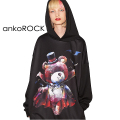 ankoROCKホラーナイトヴァンパイアテディベアプルオーバーパーカー -スーパービッグ-