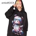 ankoROCKホラーナイトミイラテディベアプルオーバーパーカー -スーパービッグ-