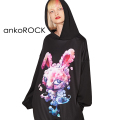 ankoROCKスモークラビットプルオーバーパーカー -スーパービッグ-