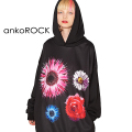 ankoROCKソーンフラワープルオーバーパーカー -スーパービッグ-