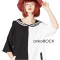 ankoROCK PANDAラインセーラーTシャツ -メガビッグ-