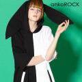 ankoROCK PANDA半袖ウサ耳プルオーバーパーカー -スーパービッグ-