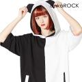 ankoROCK PANDA半袖パンダ耳プルオーバーパーカー -スーパービッグ-