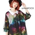 ankoROCKチュールシャツ襟Tシャツ -メガビッグ-