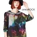 ankoROCKチュールラインセーラーTシャツ -メガビッグ-