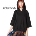 ankoROCKショート丈半袖プルオーバーパーカー -ショート&ビッグ-