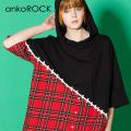 ankoROCK移植半袖プルオーバーパーカー -スーパービッグ-