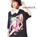 ankoROCK7つの大罪『怠惰』シャツ襟Tシャツ -メガビッグ-