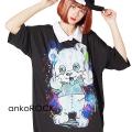 ankoROCKふぁっく!ベアーシャツ襟Tシャツ -メガビッグ-