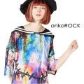 ankoROCK完全体ゾンビラインセーラーTシャツ -メガビッグ-