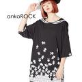 ankoROCKバラバラパズルラインセーラーTシャツ -メガビッグ-
