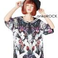 ankoROCK白雪姫ラインセーラーTシャツ -メガビッグ-