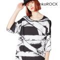ankoROCK包帯ラインセーラーTシャツ -メガビッグ-