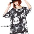 ankoROCKビッグヌイグルミパンダラインセーラーTシャツ -メガビッグ-