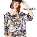 ankoROCKダーティアニマルズラインセーラーTシャツ -メガビッグ-