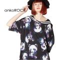 ankoROCKダーティーパンダズラインセーラーTシャツ -メガビッグ-