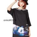 ankoROCKスモーキングパンダラインセーラーTシャツ -メガビッグ-