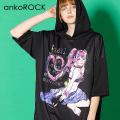 ankoROCK7つの大罪『色欲』半袖プルオーバーパーカー -スーパービッグ-