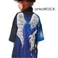 ankoROCK宇宙柄折れた翼半袖ボリュームネックジャージ -スーパービッグ-