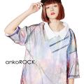 ankoROCK完全体ゾンビチュールシャツ襟Tシャツ -メガビッグ-