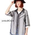 ankoROCKバラバラクラゲチュール開襟シャツ  -スーパービッグ-
