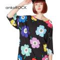 ankoROCKお花Tシャツ -メガビッグ-