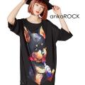 ankoROCKアル中ダーティードーベルマンTシャツ -メガビッグ-